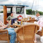 friends enjoying the cruise top deck